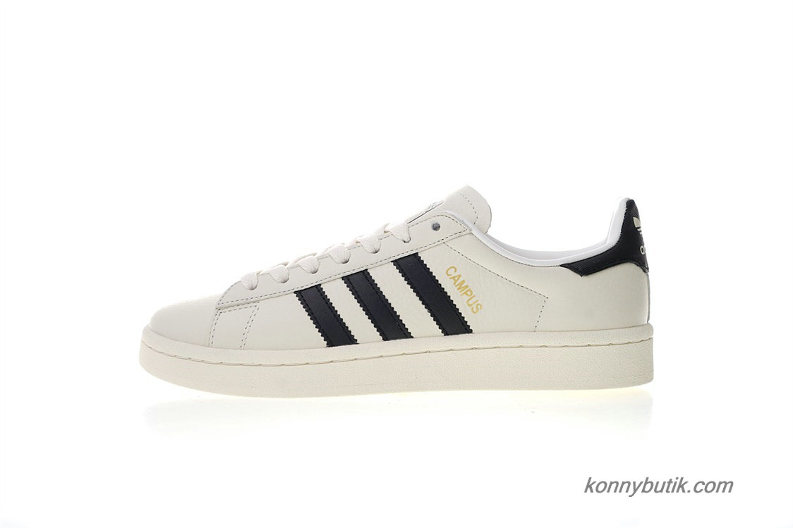 Adidas Originals Campus 80S Læder Unisex Sko Off-White / Sort (CQ2070)