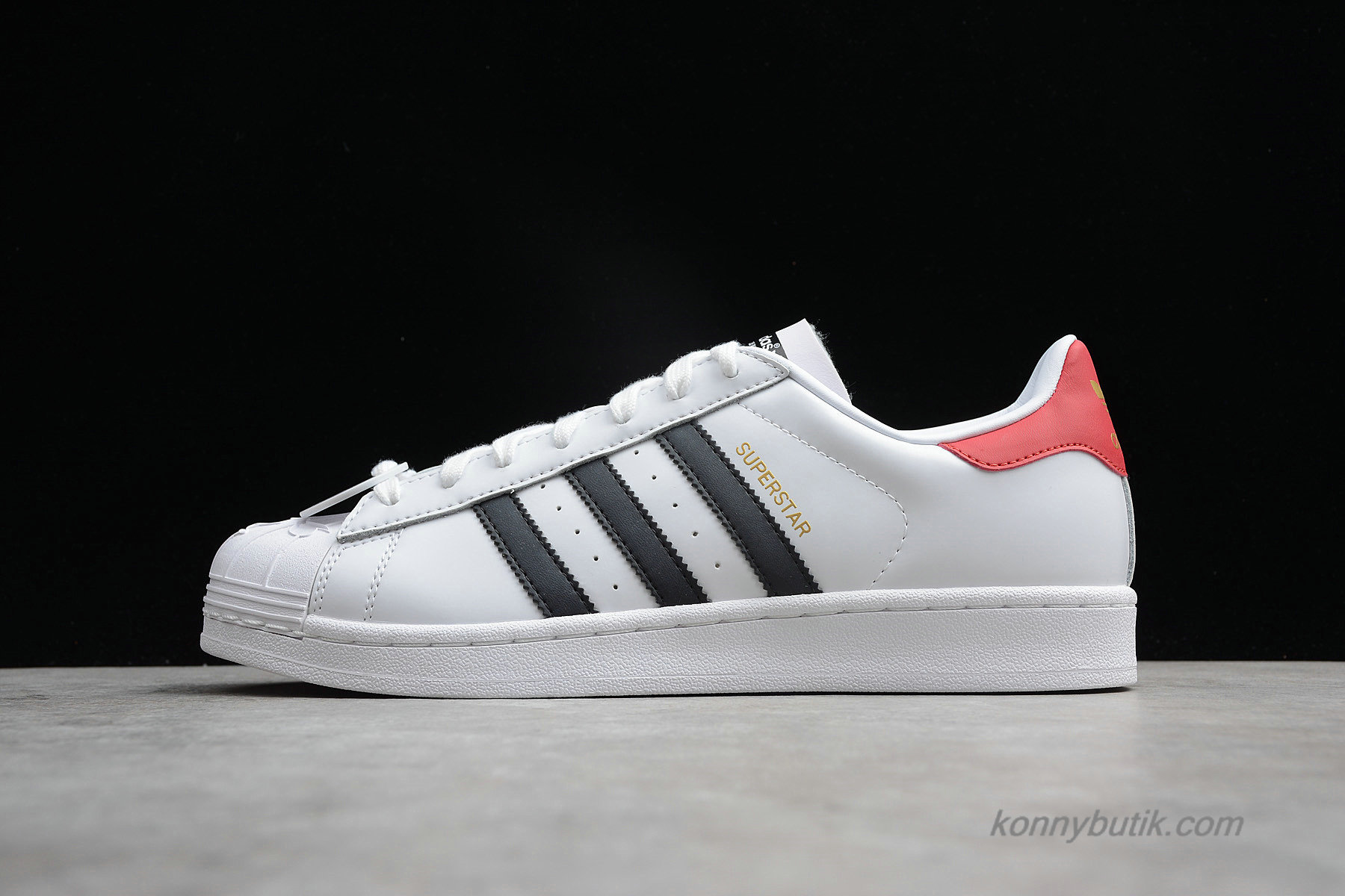 Adidas Originals Superstar Nigo Bearfoot Unisex Sko Hvid / Sort / Rød (S75552)