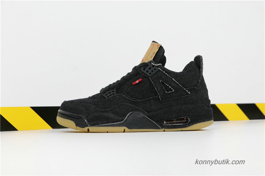 Air Jordan 4 LEVIS NRG AJ4 Herre Sko Denim Sort (A02571-001)