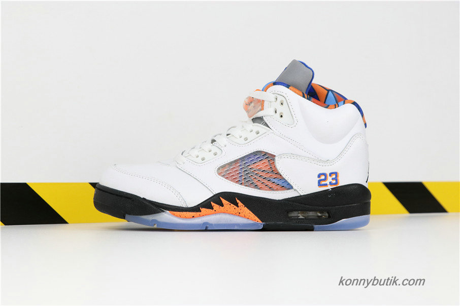 Air Jordan 5 Retro International Flight AJ5 Herre Sko Hvid / Sort / Orange (136027-148)