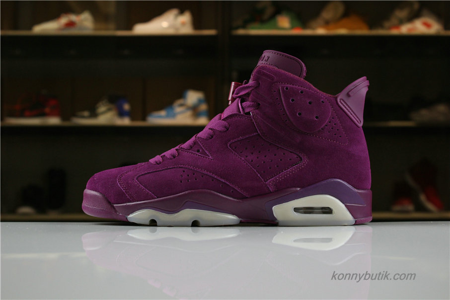 Air Jordan 6 DIY Personal Tailor Herre Sko Bordeaux (AQ707-106)