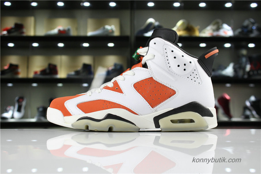 Air Jordan 6 Retro Gatorade AJ6 Herre Sko Orange / Hvid / Sort (384664-145)