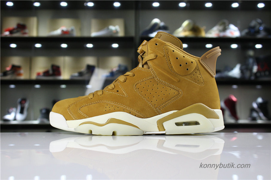 Air Jordan 6 Retro Wheat AJ6 Herre Sko Brun (384664-705)