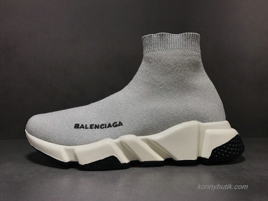 2019 Balenciaga Speed Dame Sko Grå / Sort (483502-04)