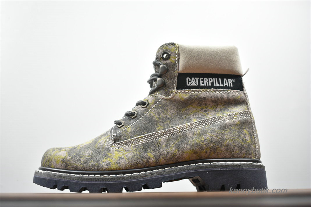 2019 Caterpillar High Top Vandtæt Herre Støvler Grå / Gul / Sort
