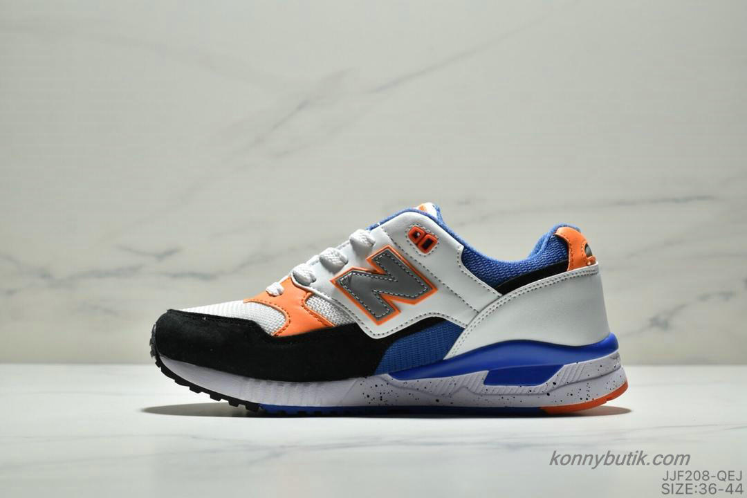 2019 New Balance 530 Unisex Sko Sort / Hvid / Orange / Blå