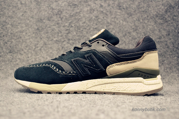 2019 New Balance 997.5 Herre Sko Sort / Khaki / Oliven (ML997HEL)