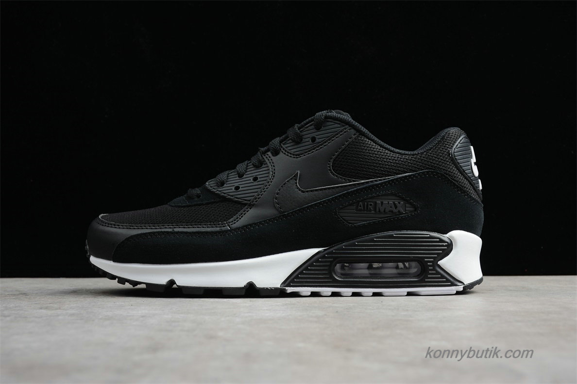 Nike Air Max 90 Essential Herre Sneakers SortGrå 537384 046