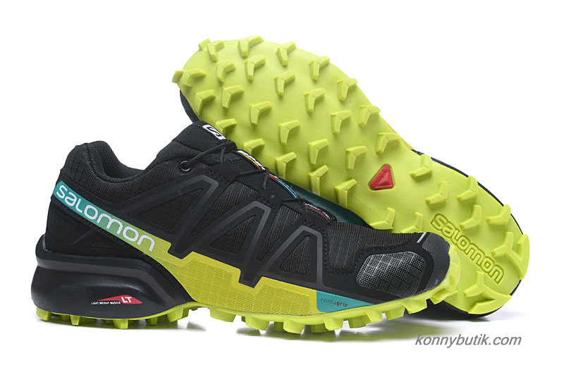 2019 Salomon Speedcross 4 Herre Sko Sort / Gul / Grøn
