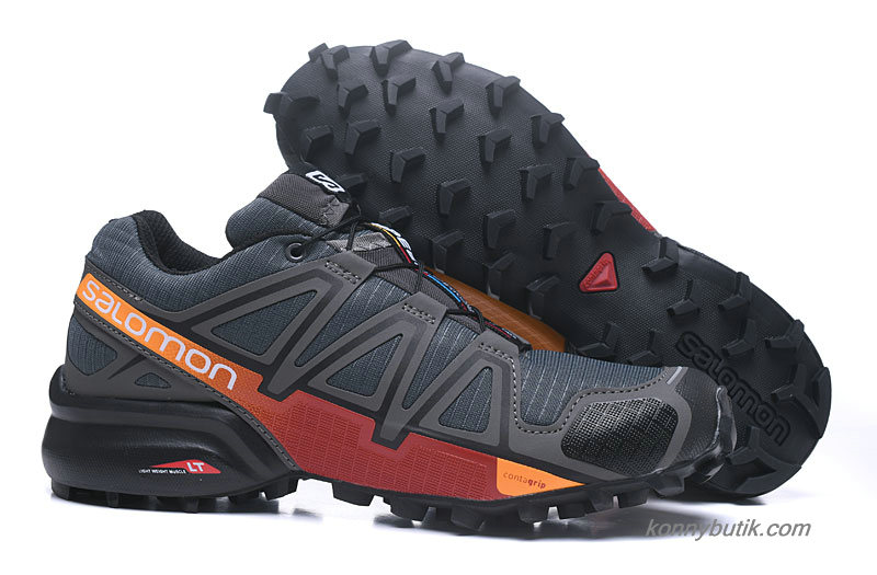 2019 Salomon Speedcross 4 Herre Sko Mørkegrå / Orange / Rød