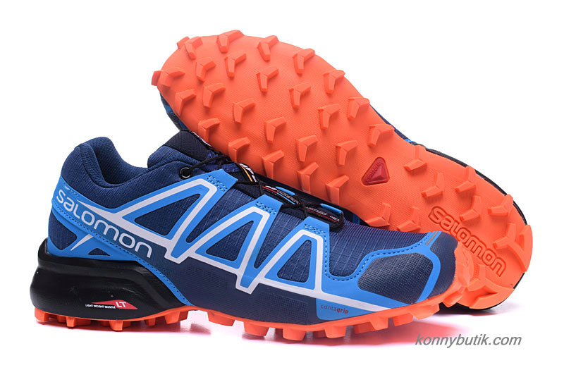 2019 Salomon Speedcross 4 Herre Sko Marine blå / Hvid / Orange