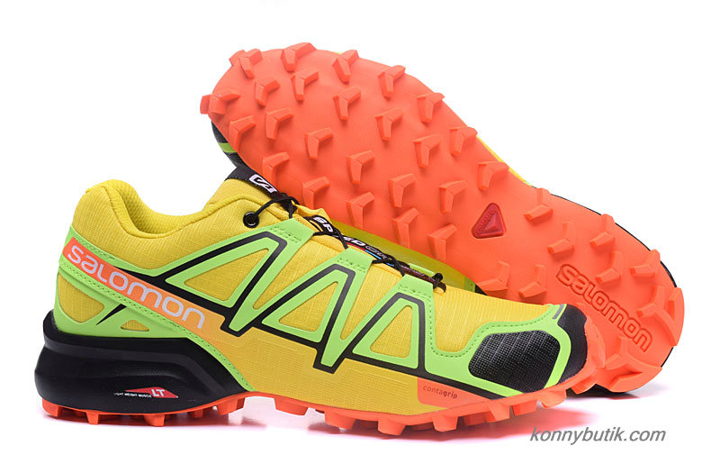 2019 Salomon Speedcross 4 Herre Sko Gul / Grøn / Sort / Orange