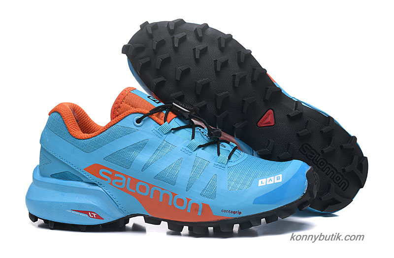2019 Salomon Speedcross PRO 2 Dame Sko Lyseblå / Orange