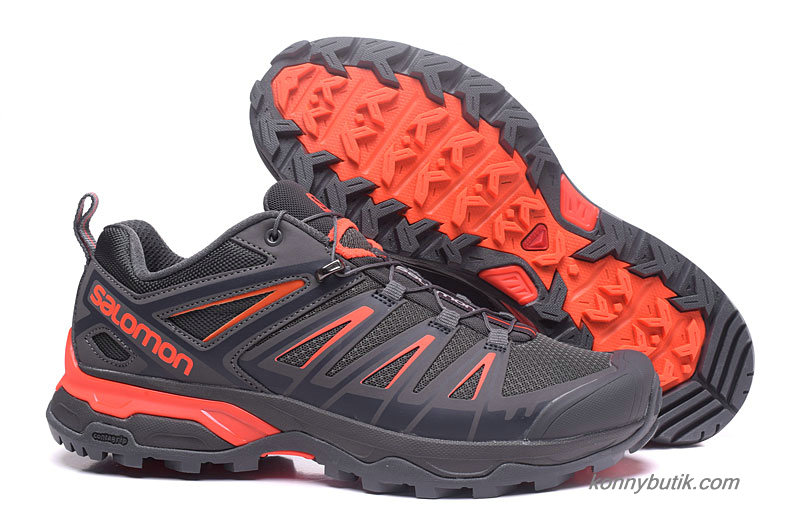 2019 Salomon X Ultra 3 GTX Herre Sko Mørkegrå / Orange