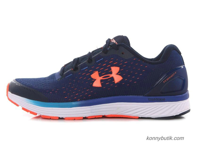 2019 Under Armour Charged Bandit 4 Herre Sko Marine blå / Orange