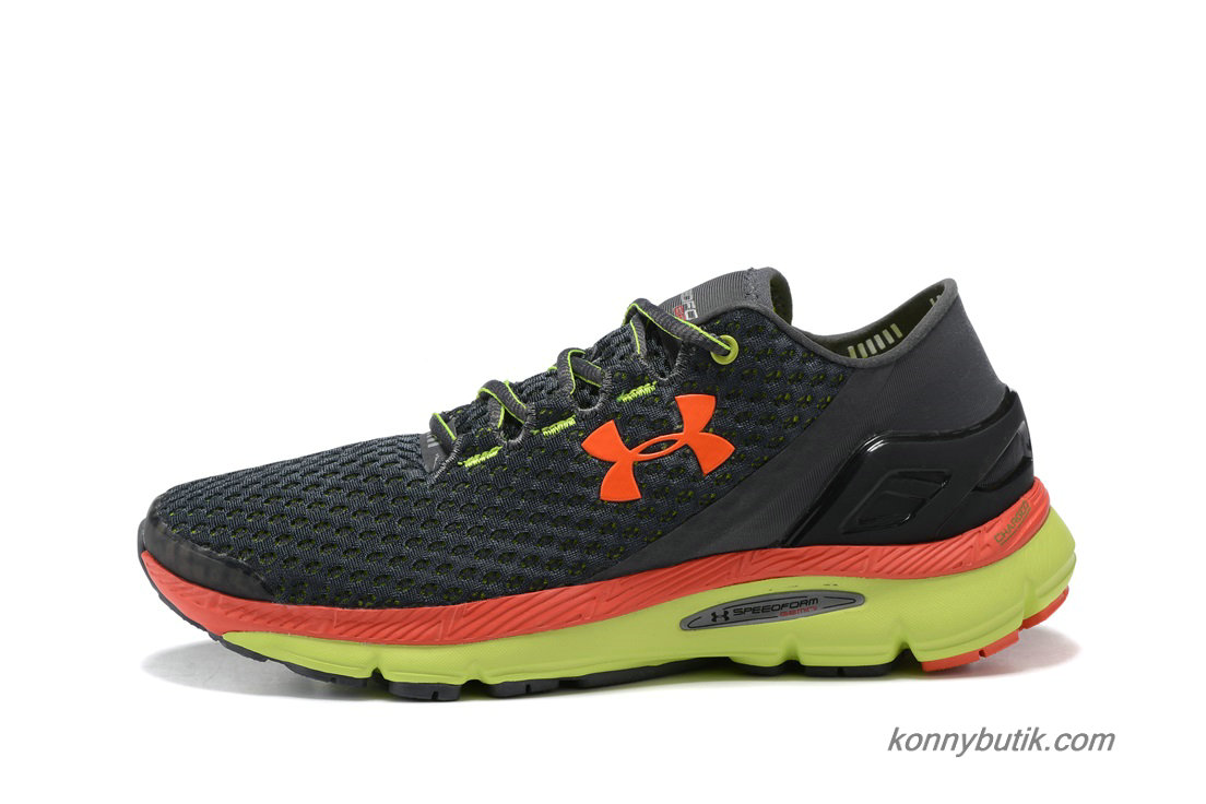 2019 Under Armour SpeedForm Gemini Herre Sko Sort / Orange / Grøn