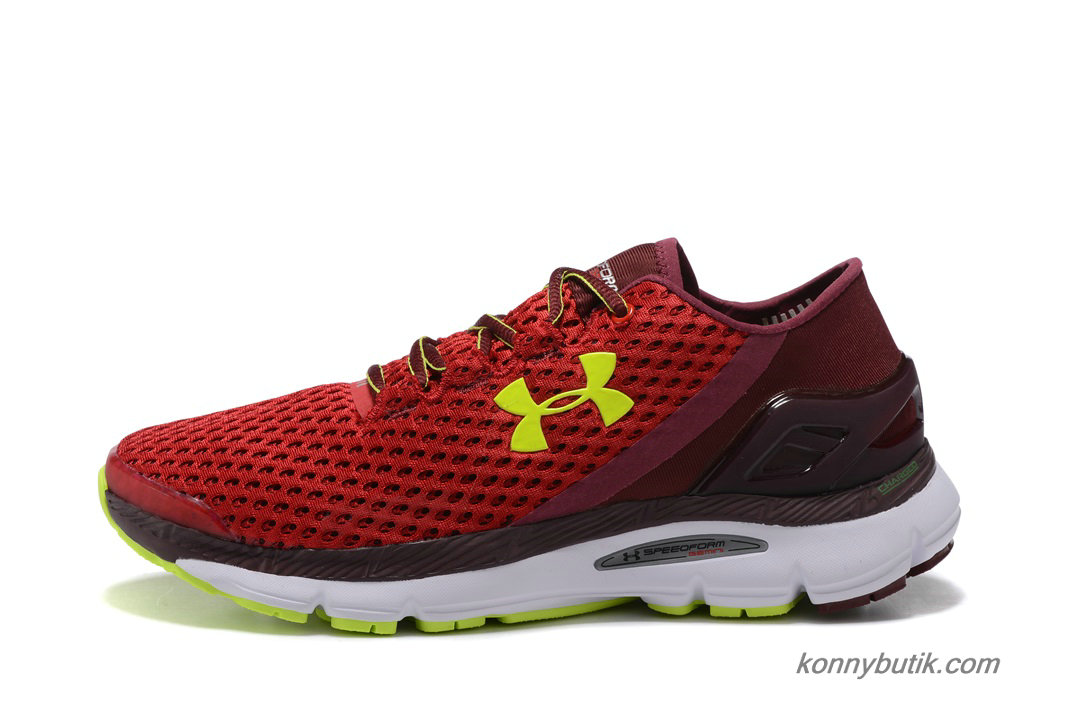 2019 Under Armour SpeedForm Gemini Herre Sko Rød / Bordeaux / Grøn