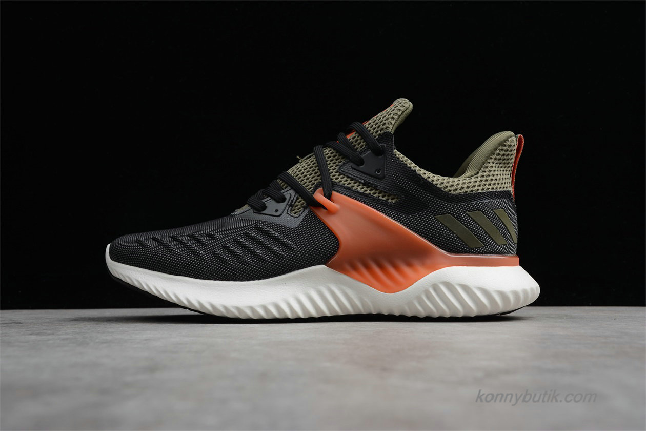 Adidas Alphabounce Beyond 2.0 Herre Sko Sort / Oliven / Orange (BD7099)