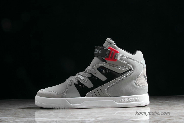 Adidas Originals MC-X 1 Hi Top Unisex Sko Grå / Sort / Rød (D65779)