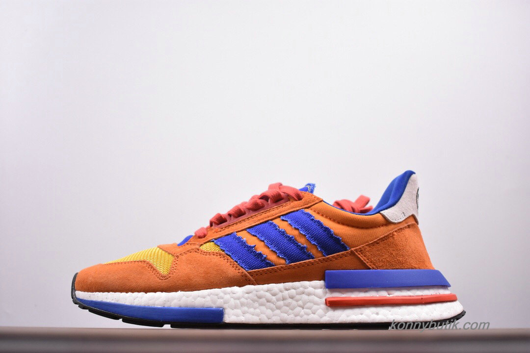 Adidas Originals ZX500 RM Boost Unisex Sko Orange / Blå / Hvid (D97046)