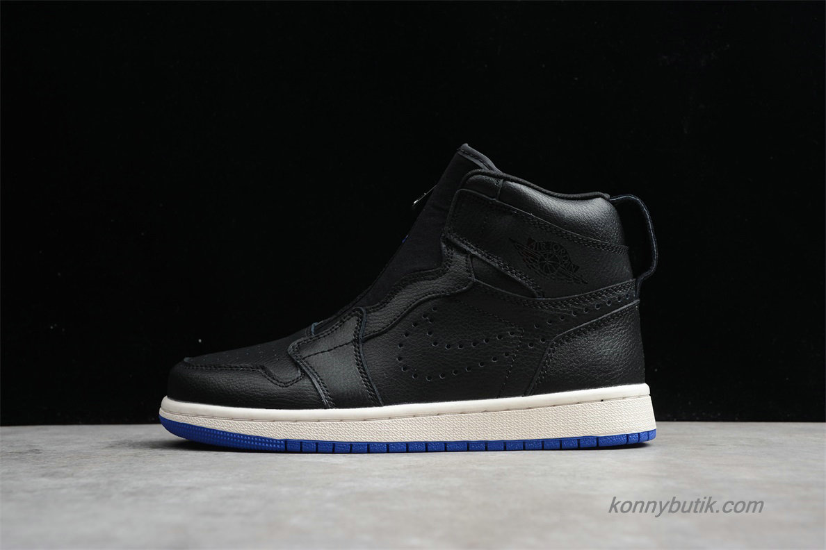 Air Jordan 1 High ZIP AJ1 Unisex Sko Sort / Hvid (AR4833-001)