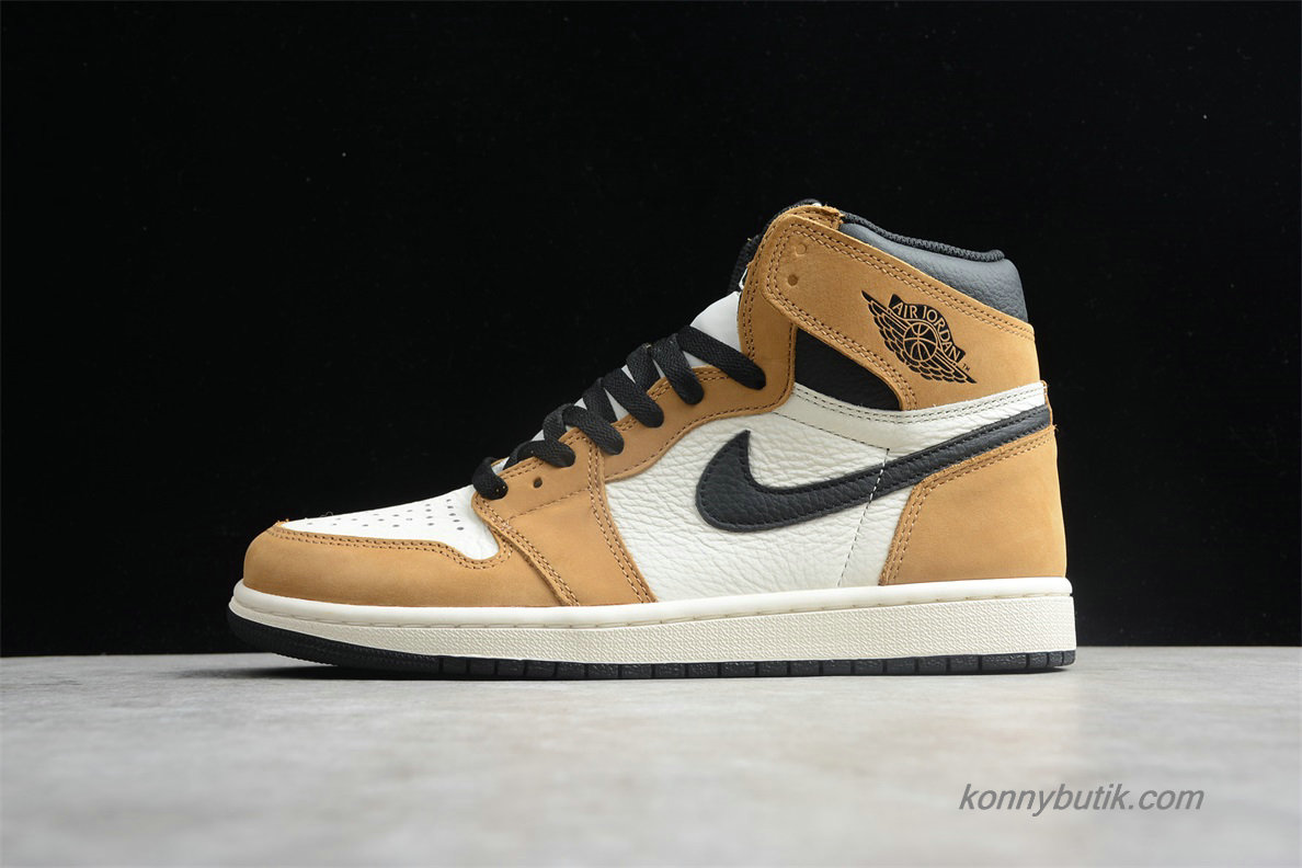 Air Jordan 1 Retro High OG AJ1 Unisex Sko Brun / Hvid / Sort (555088-700)