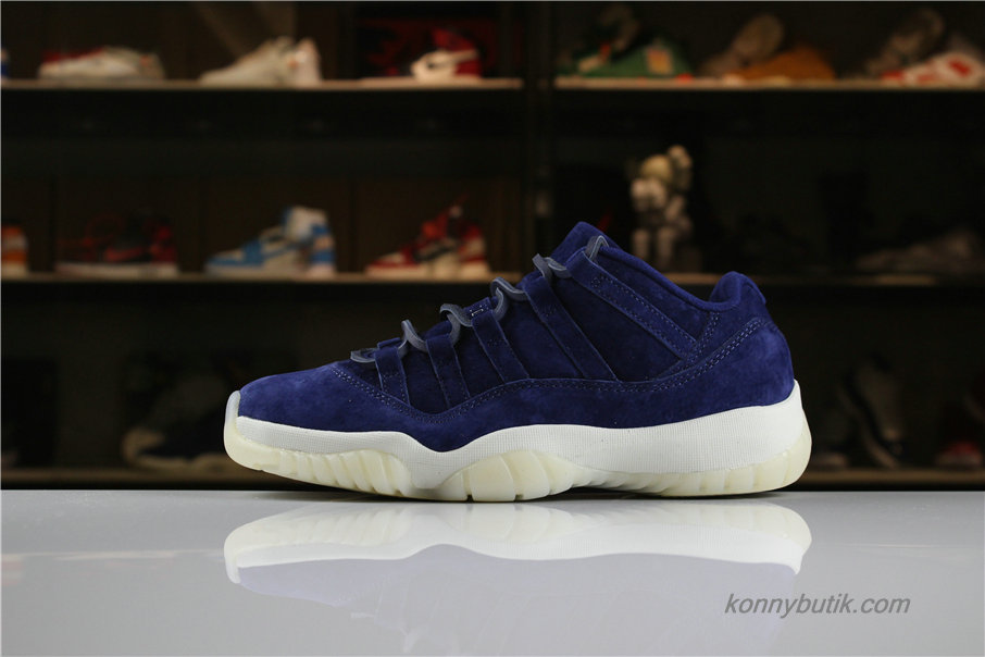 Air Jordan 11 Retro Low RE2PECT Suede AJ11 Herre Sko Marine blå / Hvid (AV2187-441)