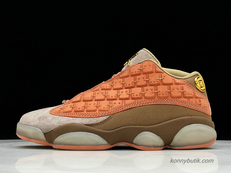 Air Jordan 13 Retro Low NRG Clot Herre Sko Sand / Orange / Kaffe (AT3102-200)