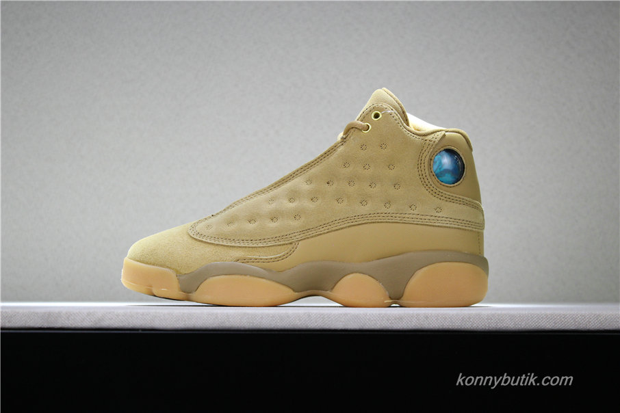 Air Jordan 13 Retro Wheat AJ13 Dame Sko Brun (414574-705)