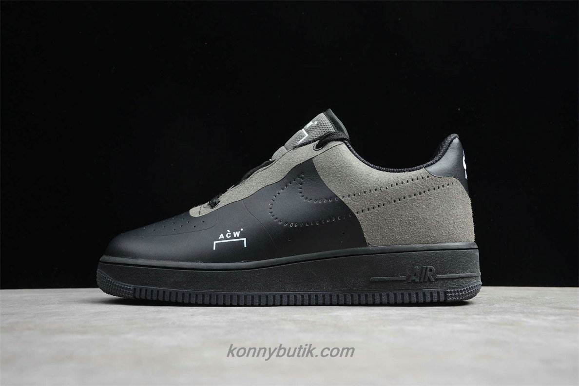 Nike Air Force 1 07 ACW Herre Sko Sort / Grå (BQ6924 001)