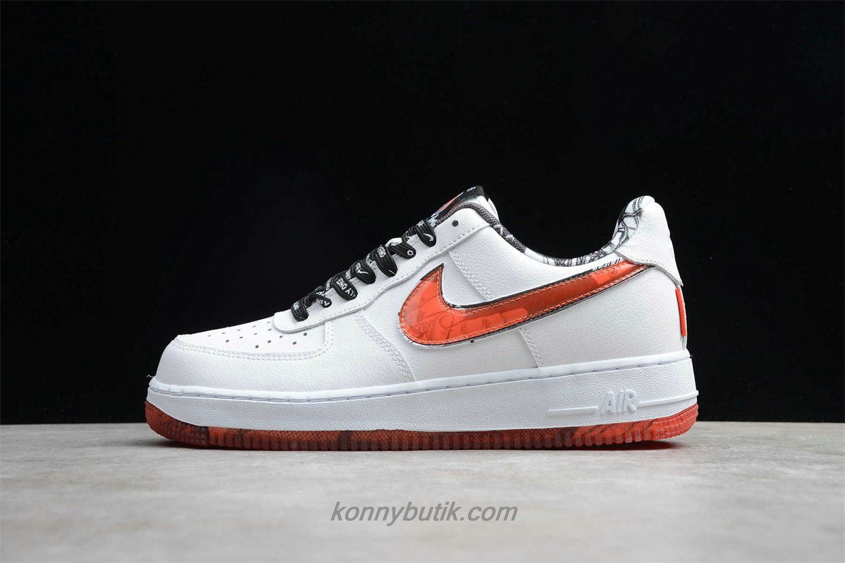 Nike Air Force 1 07 LV8 Herre Sko Hvid / Orange (CJ2826 178)