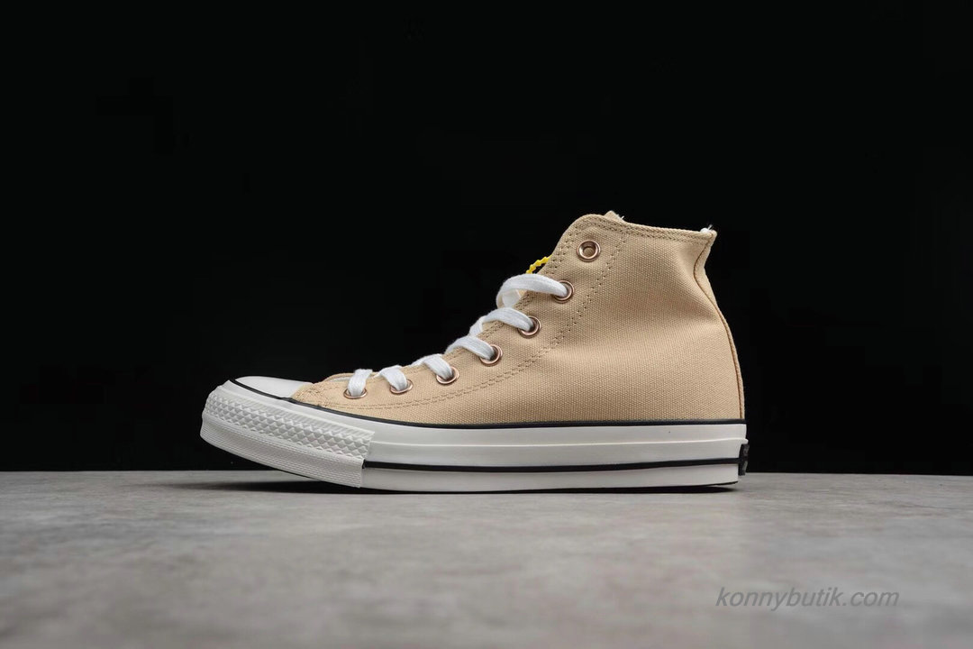 Converse All Star 100 Colors HI Unisex Sko Khaki / Hvid / Sort (1CK558)