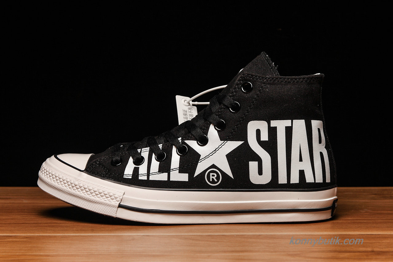 Converse All Star Biglogo SP HI Unisex Sko Sort / Hvid (1CL028)