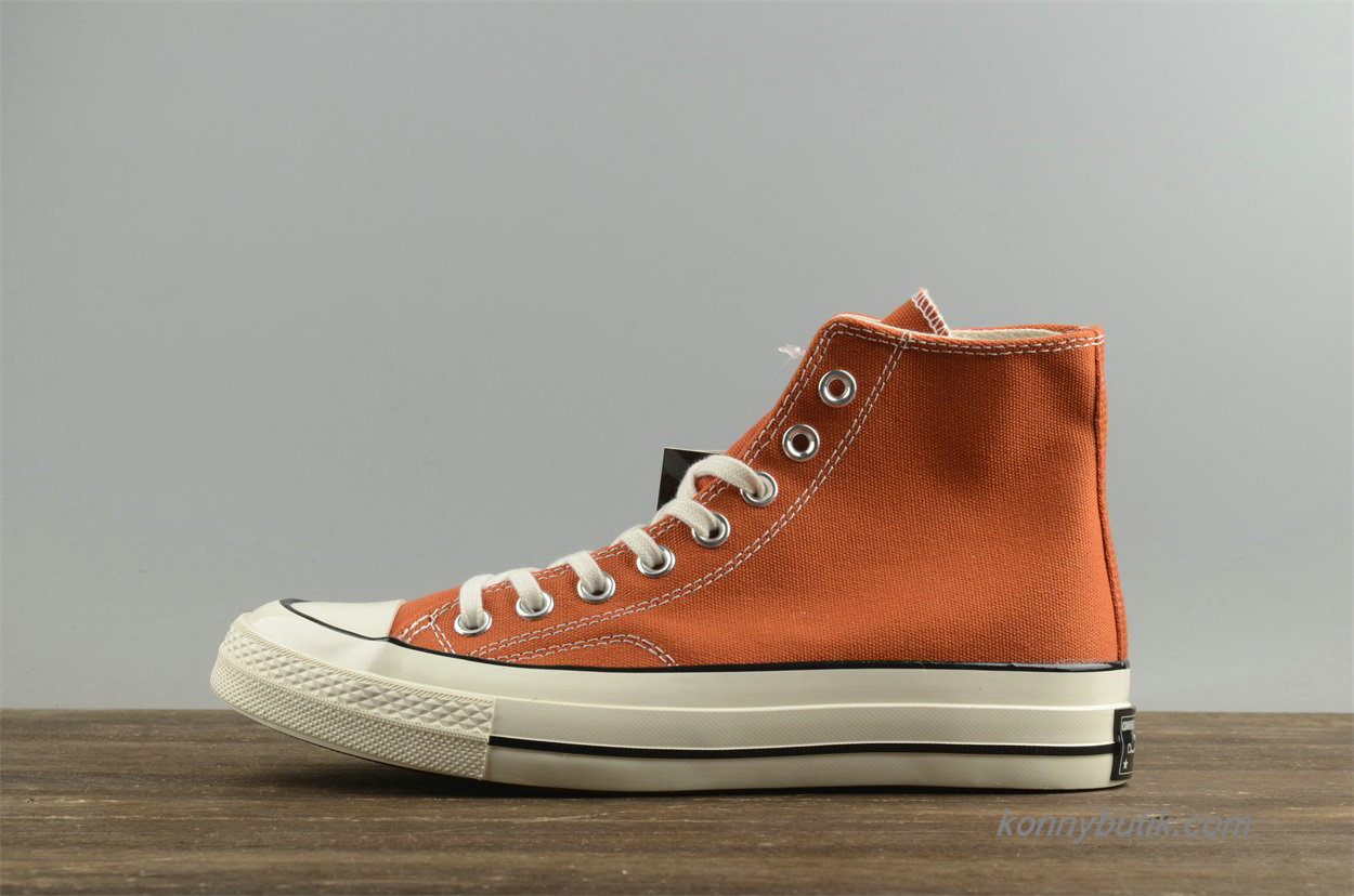 Converse Chuck Taylor All Star 1970s HI Læder Unisex Sko Orange (157569C)
