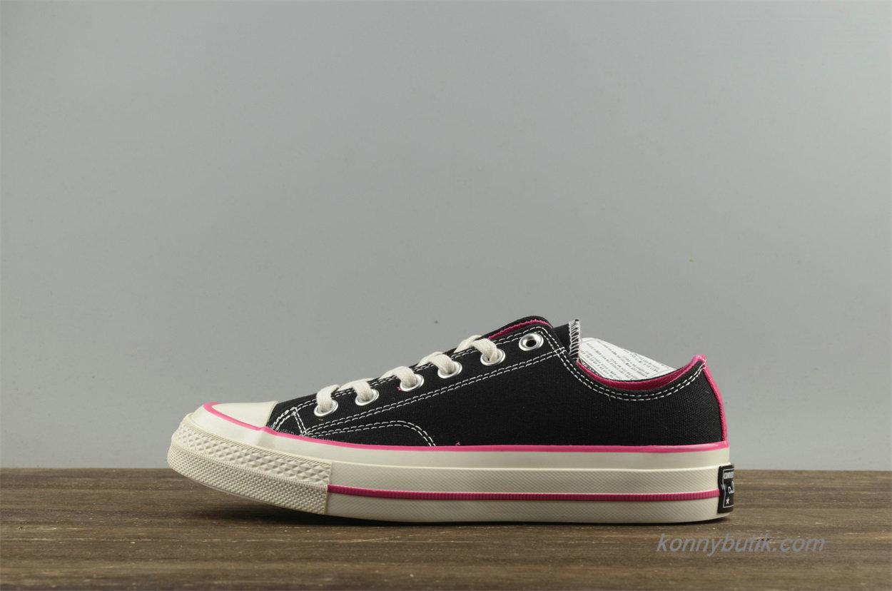 Converse Chuck Taylor All Star 1970s Low Dame Sko Sort / Lyserød (157561C)