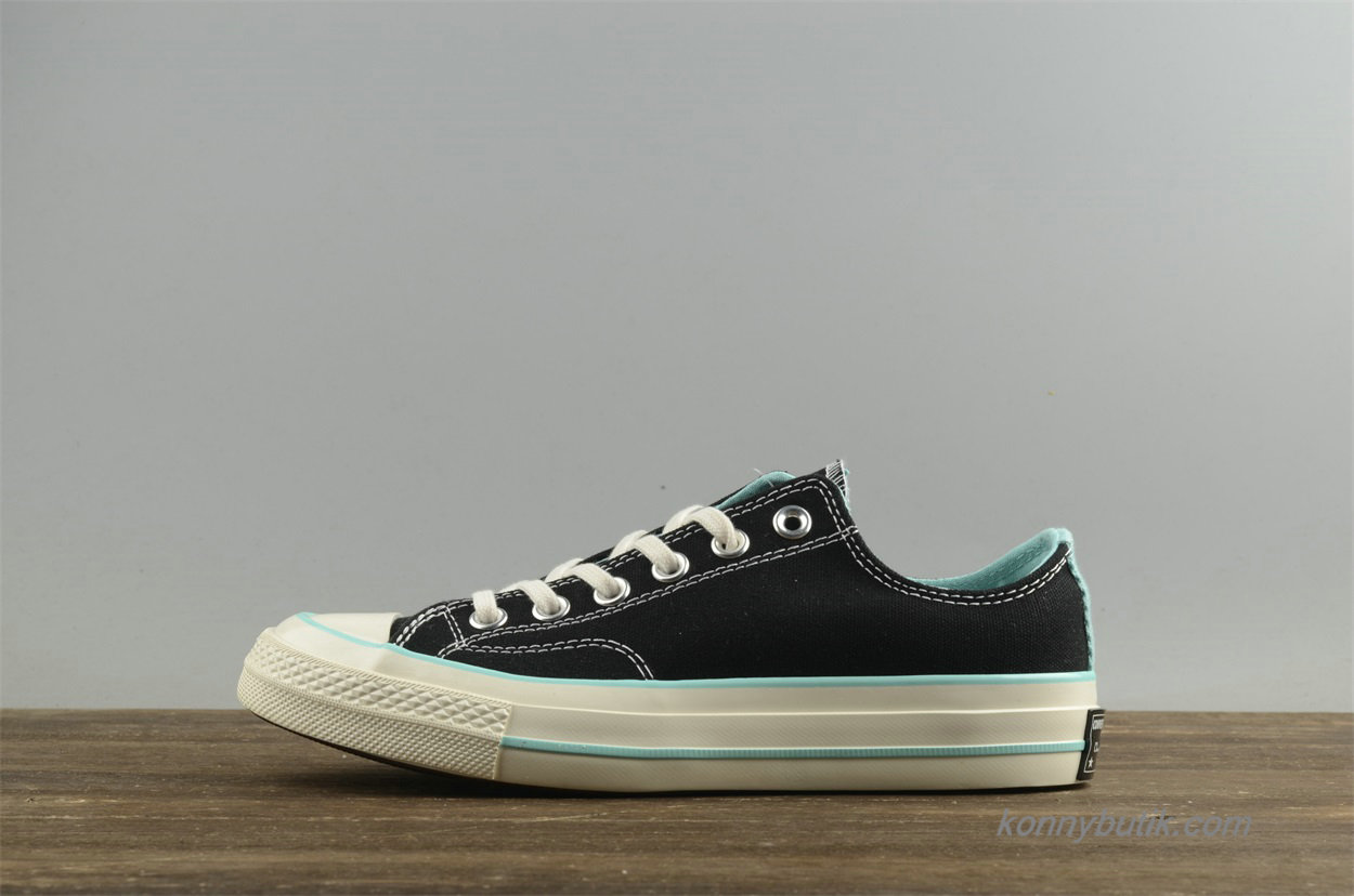 Converse Chuck Taylor All Star 1970s Low Dame Sko Sort / Grøn (157562C)