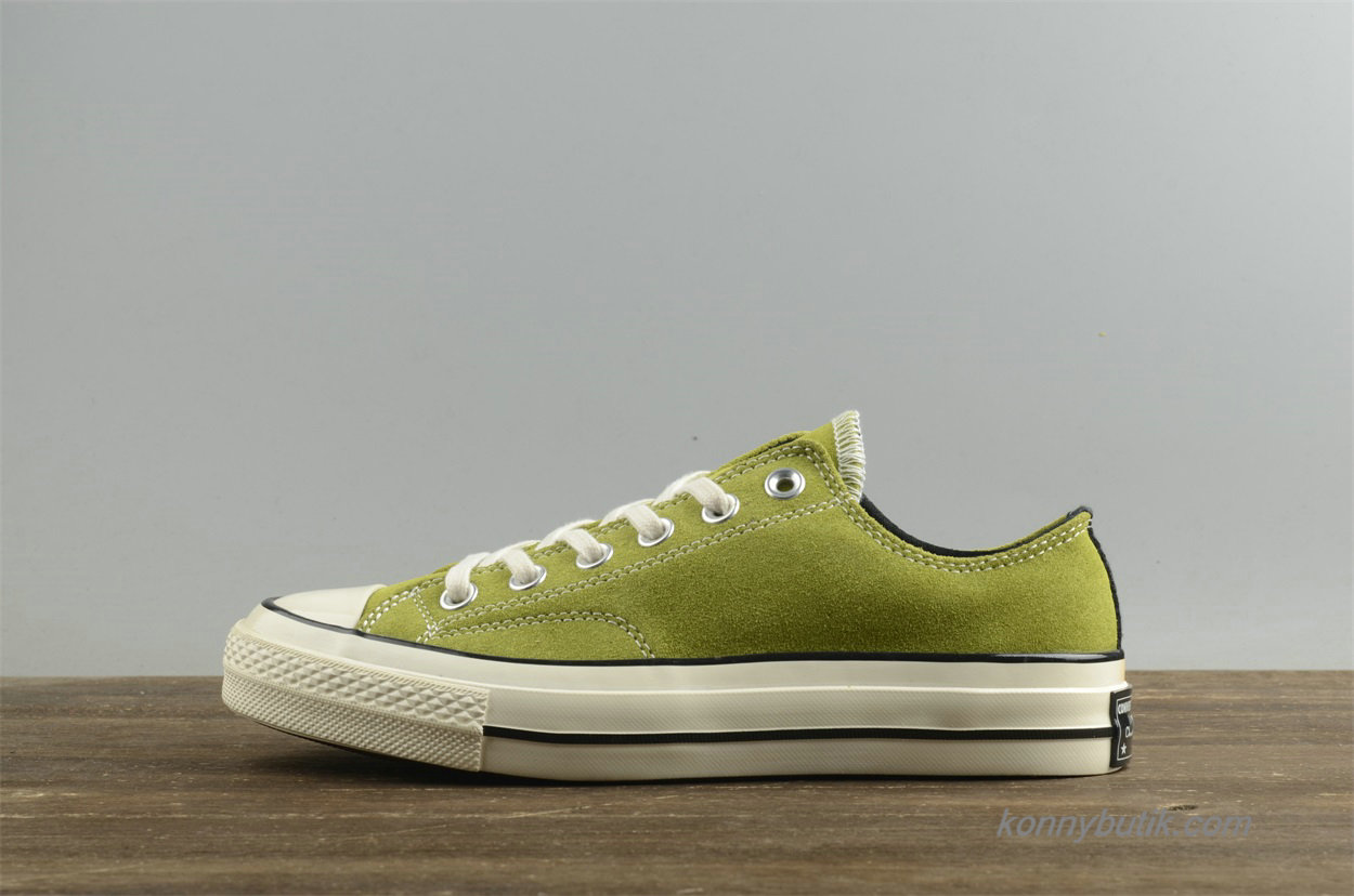 Converse Chuck Taylor All Star 1970s Low Suede Dame Sko Grøn (154944C)