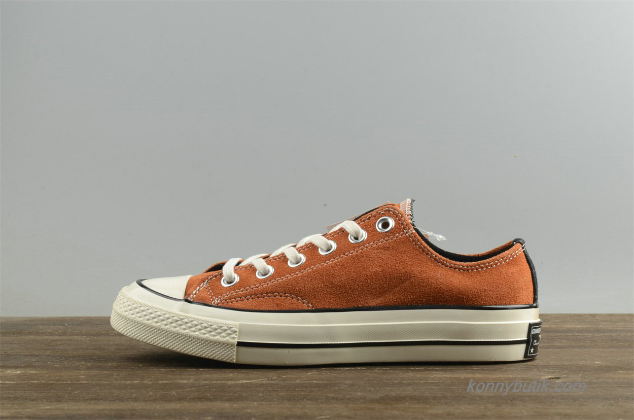 Converse Chuck Taylor All Star 1970s Low Suede Dame Sko Brun (154945C)