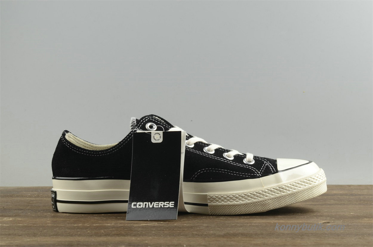 Converse Chuck Taylor All Star 1970s Low Suede Unisex Sko Sort (157452C)