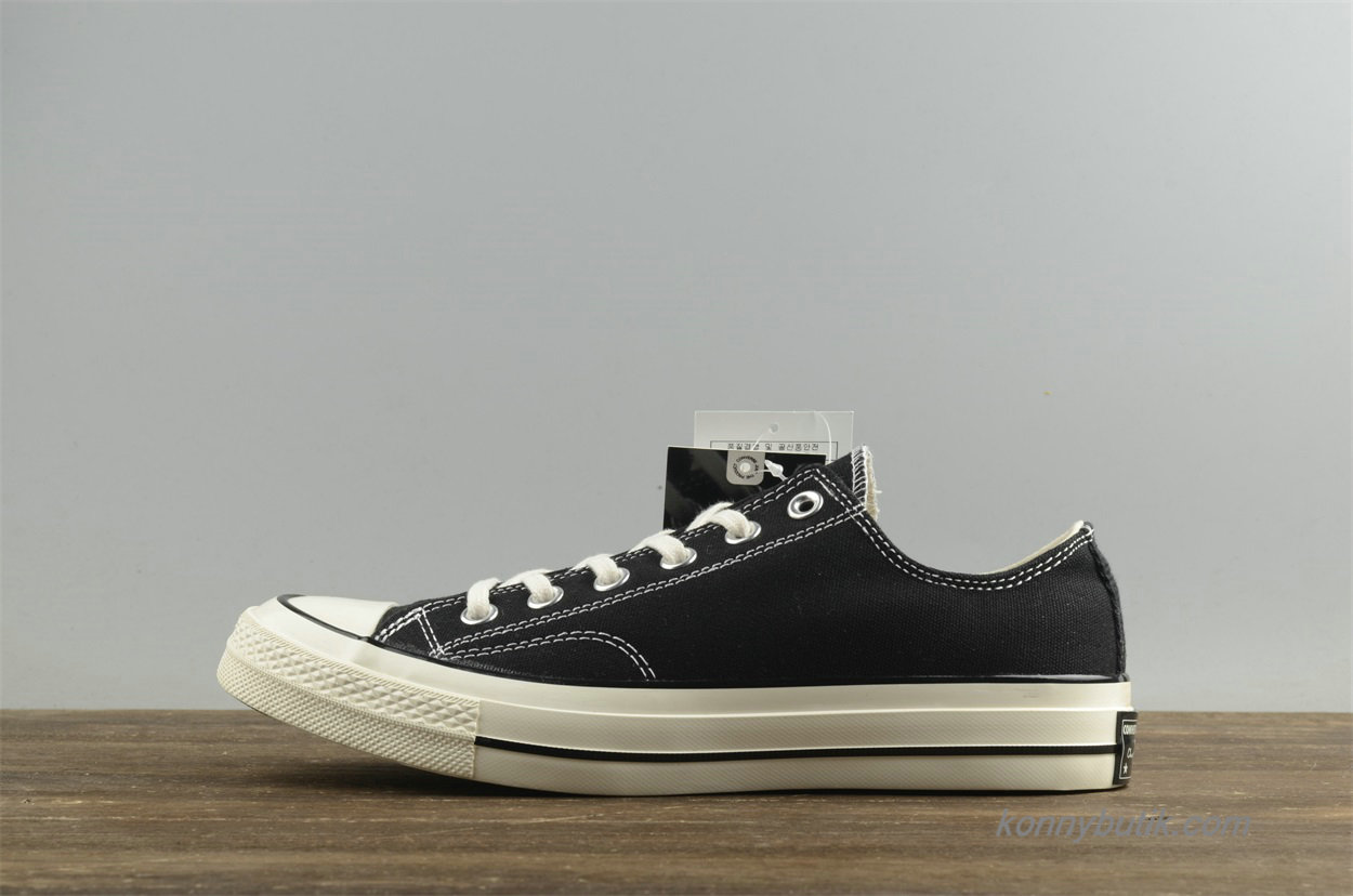 Converse Chuck Taylor All Star 1970s Low Unisex Sko Sort (144757C)