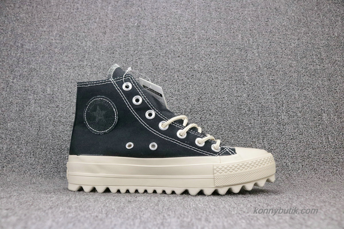 Converse Chuck Taylor All Star Lift Ripple HI Unisex Sko Sort (559856C)