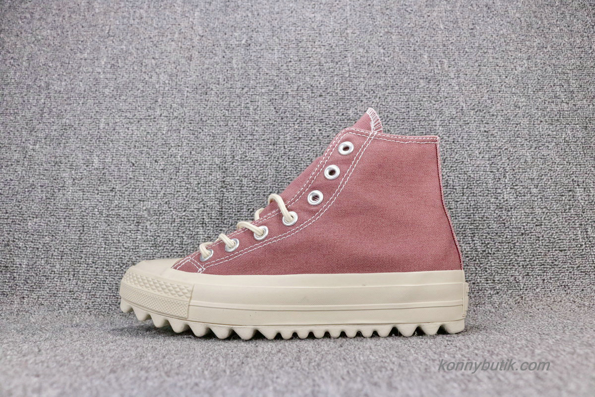 Converse Chuck Taylor All Star Lift Ripple HI Unisex Sko Indian Rød (559859C)
