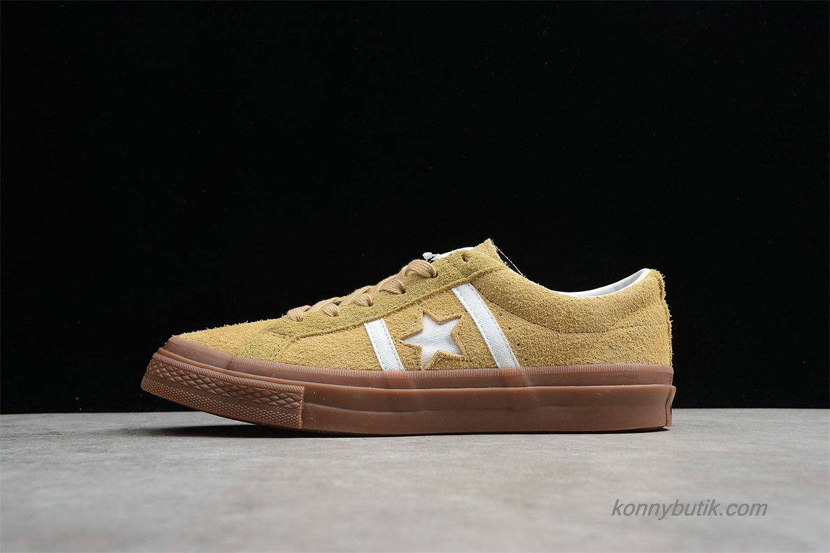 Converse Star And Bars Suede GM Low Unisex Sko Khaki (1CL257)