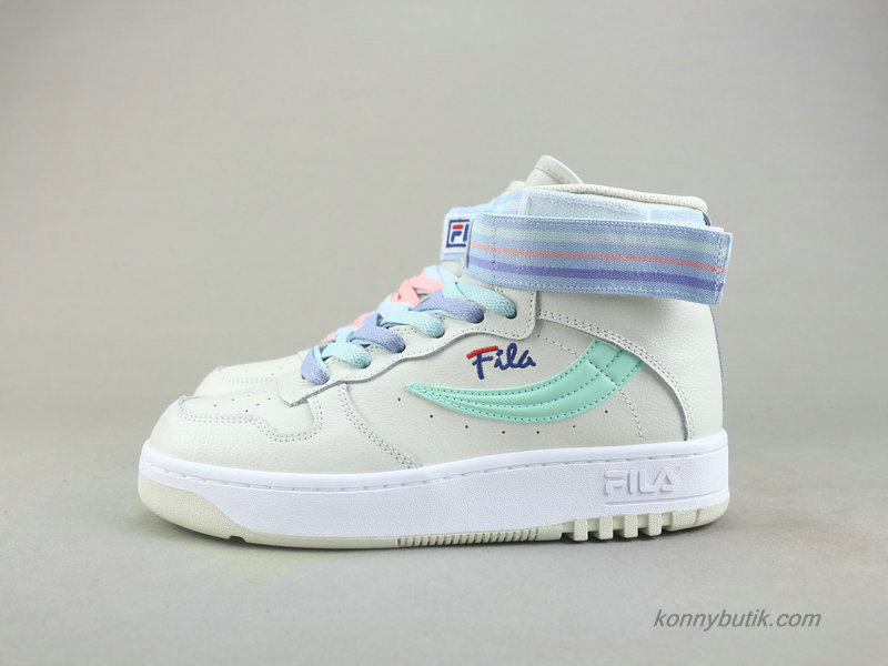 2019 Fila FX-100 High Top Dame Sko Off-White / Grøn / Lilla