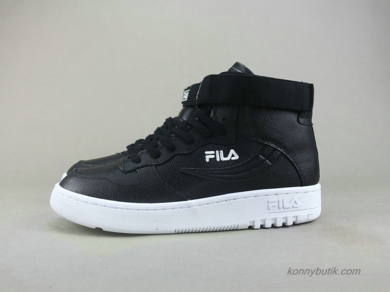 2019 Fila FX-100 High Top Unisex Sko Sort / Hvid