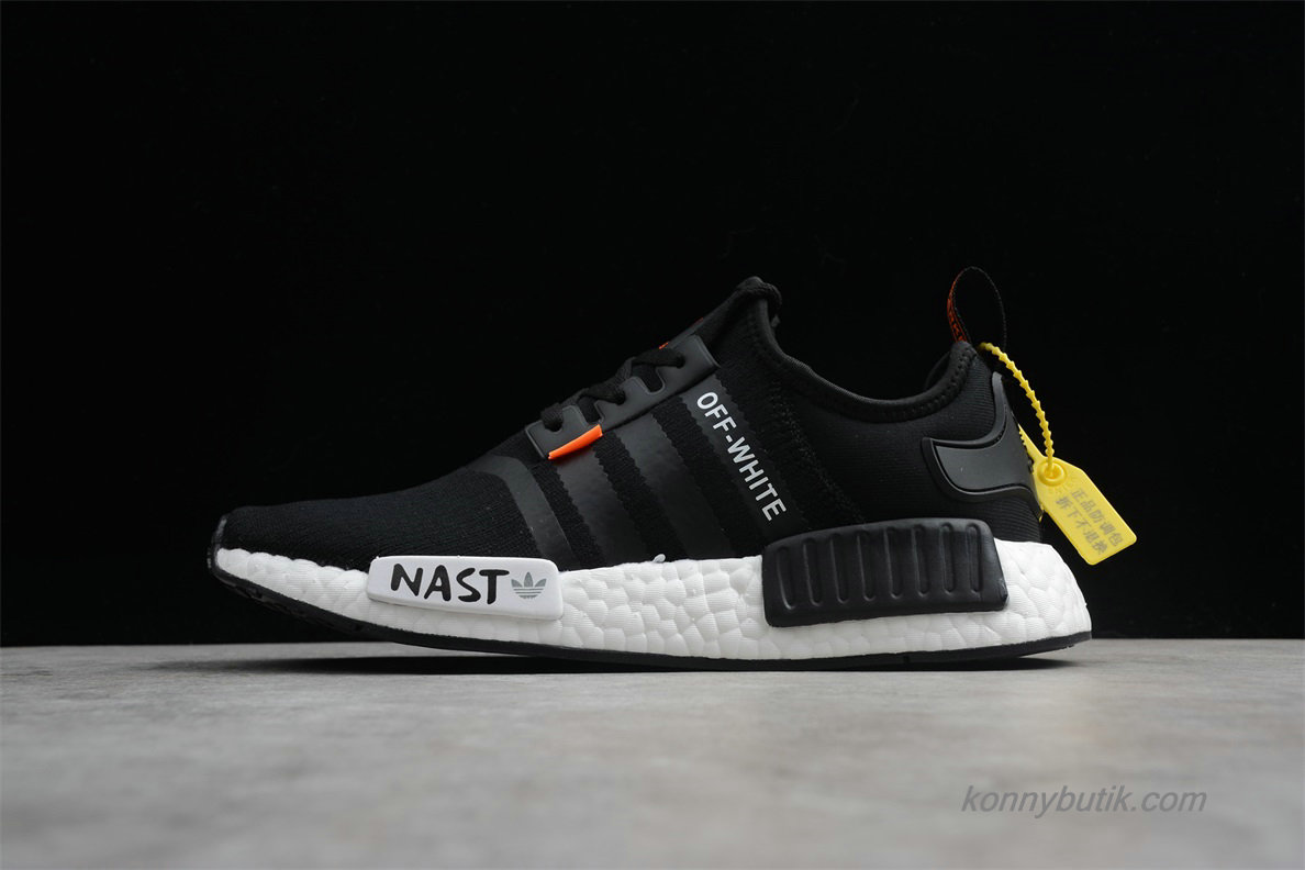 NAST Off-White x Adidas Originals NMD Unisex Sko Sort / Hvid (DA8865)