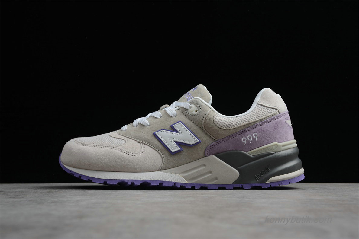 2019 New Balance 999 Unisex Sko Grå / Lilla / Sort (ML999AAY)