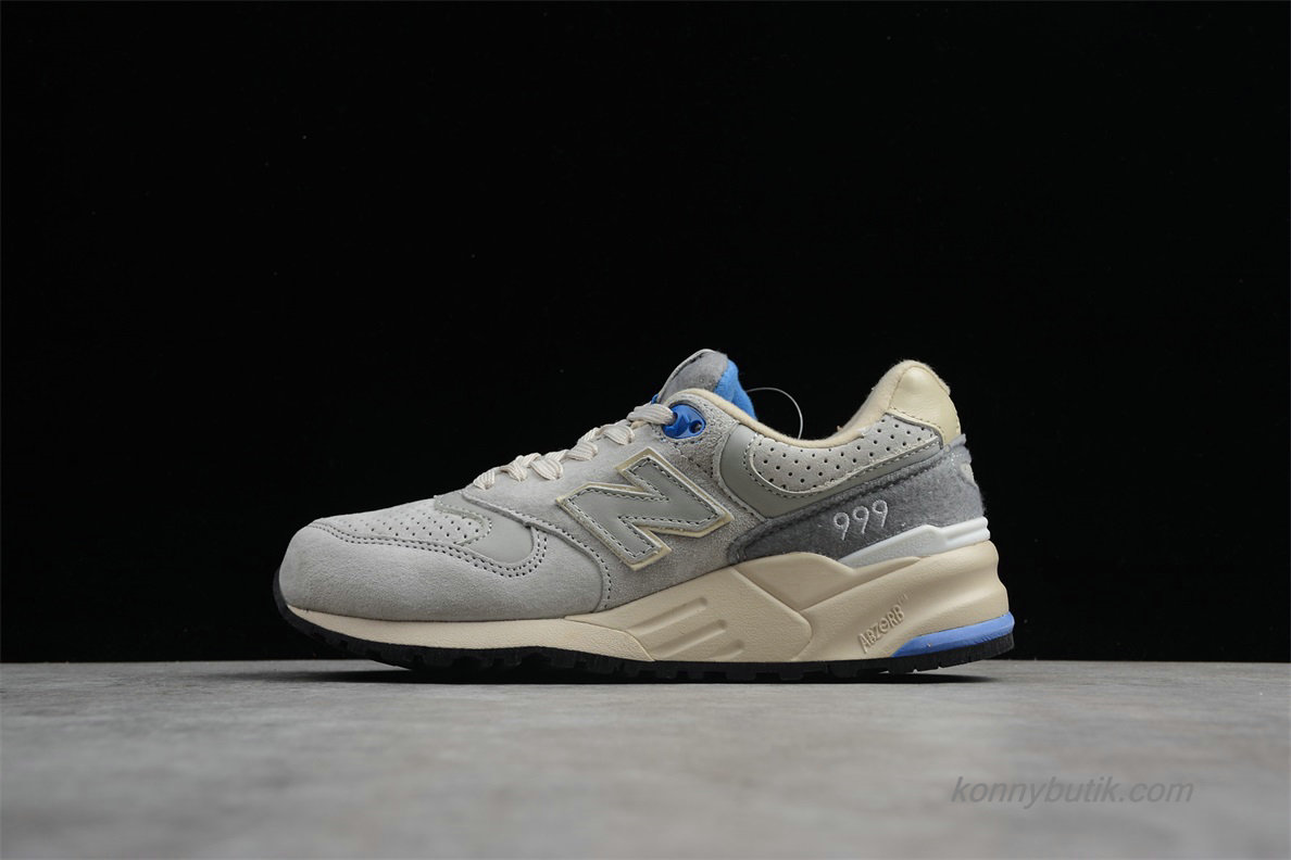 2019 New Balance 999 Unisex Sko Grå / Off-White / Blå (ML999MMU)