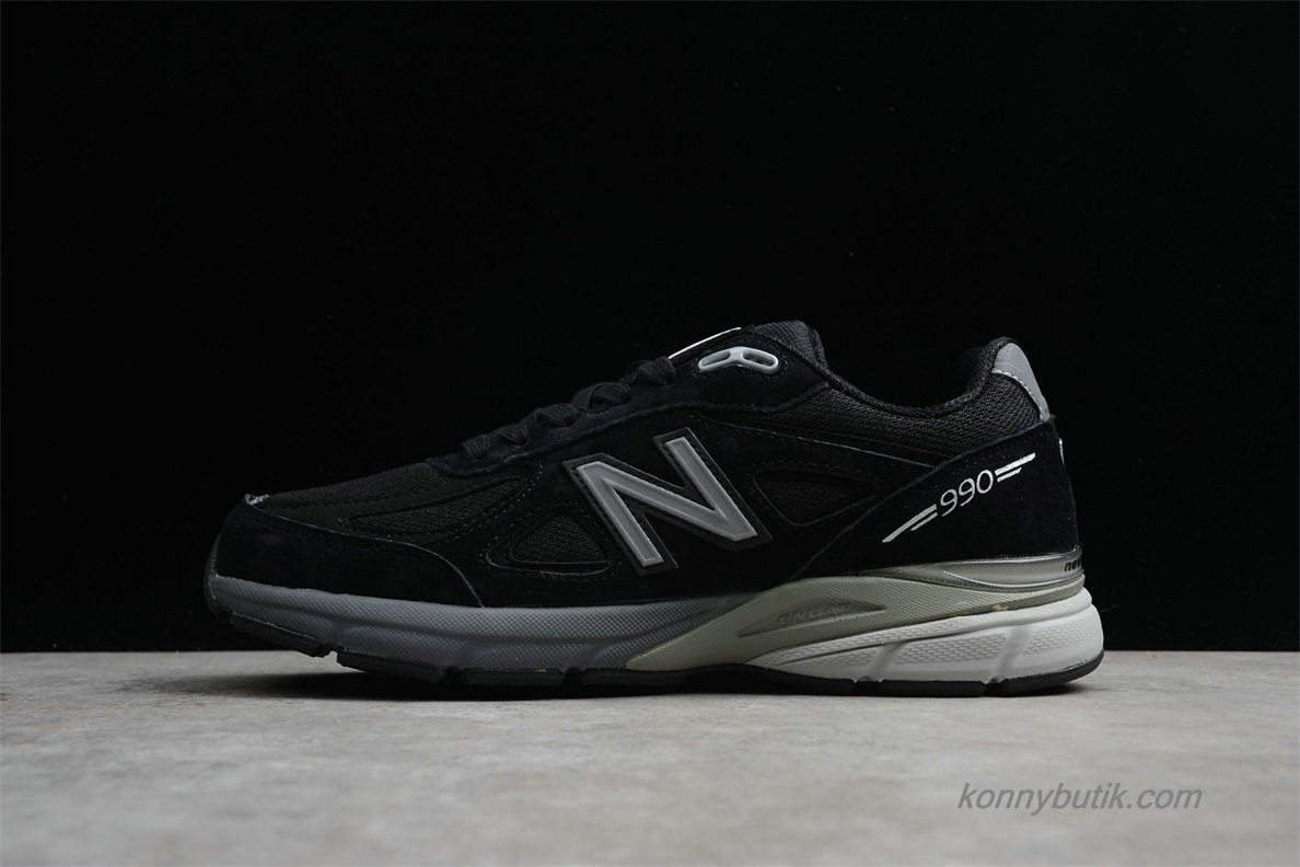 2019 New Balance IN USA M990V4 Unisex Sko Sort (M990BK4)