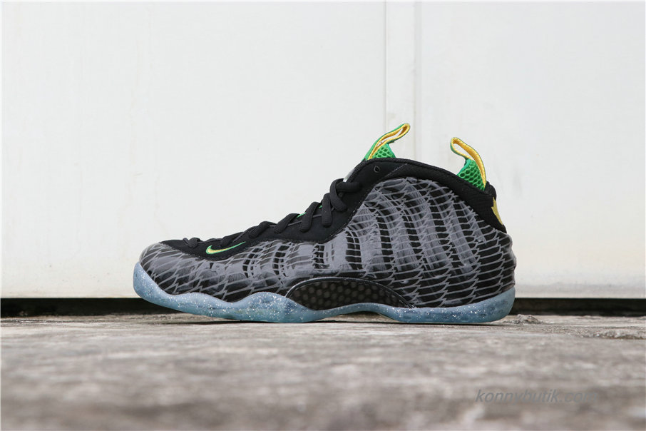 Nike Air Foamposite One Oregon Ducks Herre Sko Sort / Grå / Grøn (652110-001)
